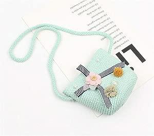 Children Straw Beach Handbag Cute Messenger Bag Kids Shoulder Bag Coin Purse