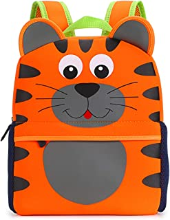 Hipiwe Toddler Backpack for Little Kids Water Resistance Kindergarten Preschool Bags Neoprene Children Schoolbag Cute Animal