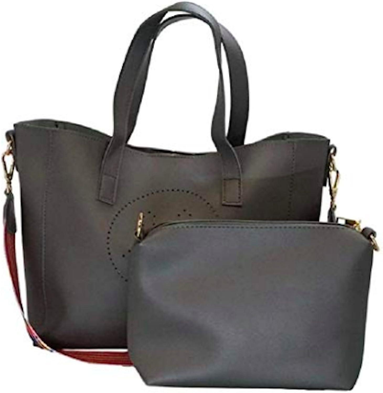 Nopienose Women big smile mark Shoulder bag and Tote Purse Set Ladies Casual Crossbody Bag (2 pieces set)