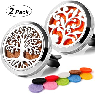 2PCS Aromatherapy Essential Oil Stainless Steel Car Diffuser Vent Clip