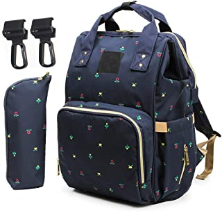 Backpack Diaper Bag Large Waterproof Travel Baby Diaper Bags for Mom Dad with Stroller Straps,Insulation Bag, Fashion Baby Nappy Bags for Boy Girl
