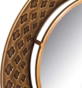 Espejo Redondo de Metal Dorado árabe para la Entrada de 70 cm Arabia - LOLAhome
