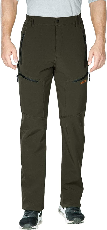 Nonwe Men's Warm Windproof Mountain Fleece Hiking Snow Ski Pants