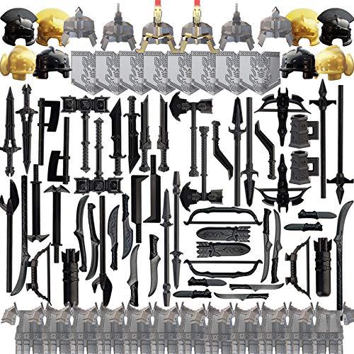 SEREIN 101 Piezas Juego de Militar Armas Figuras Accesorios Militares para Soldados de Casco Policía SWAT, Compatible con Lego Minifiguras
