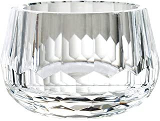 Donoucls Crystal Candy Dish Hand Cut Glass Bowl Clear 2.4