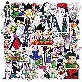 Hunter X Hunter Paquete de 50 Pegatinas de Dibujos Animados de Anime, Pegatinas de Parachoques, Calcomanías para Coches, Motocicletas, Equipajes Portátiles, Ipad, Impermeables