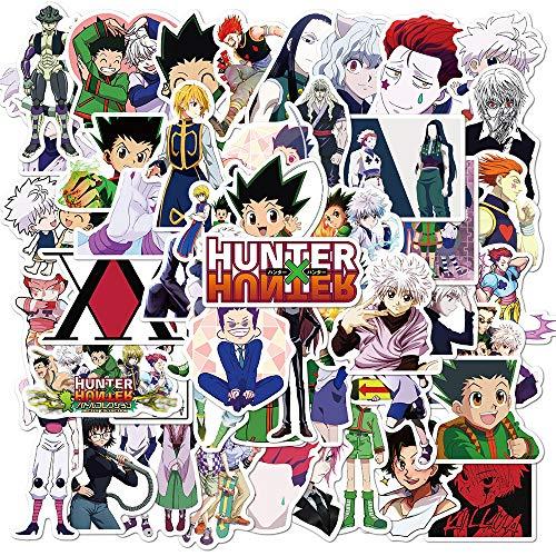 Hunter X Hunter Aufkleber Pack 50 Stück Cartoon Abziehbilder von Anime Autoaufkleber Abziehbilder für Autos Motorrad Tragbares Gepäck Ipad Laptops Wasserdicht Sonnenlichtsicher