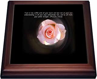 3dRose trv_42969_1 Trust in The Lord Proverb 3-5,6) Trivet with Ceramic Tile, 8 by 8