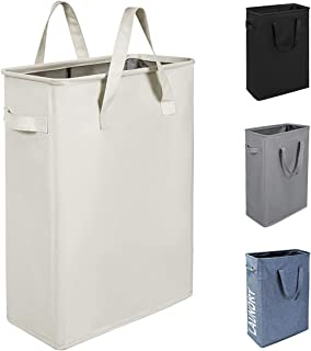 Chrislley 45L Slim Laundry Hamper Collapsible Laundry Basket Thin Narrow Laundry Hampers..
