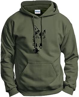 Wolf Face Shadow Sketch Wolves Hoodie Sweatshirt