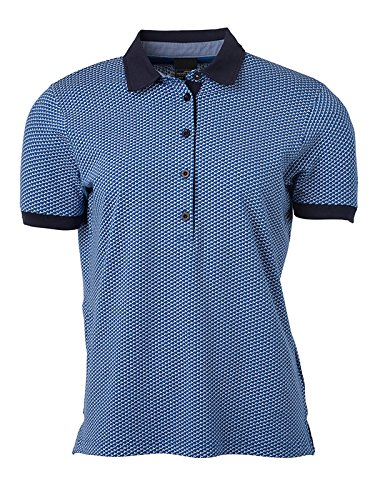 JAMES & NICHOLSON Printed Polo XL Bleu/Blanc