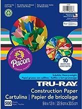 Tru-Ray Heavyweight Construction Paper Bulk Assortment, 10 Assorted Colors, 9