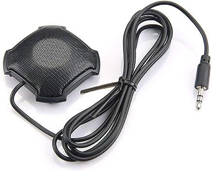 Justdodo Microfono omnidirezionale Pickup con Microfono da 3,5 mm con Jack Audio a condensatore per Skype VOIP Call Voice Chat-Black - Trova i prezzi più bassi