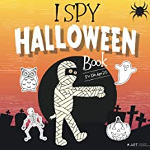 I Spy Halloween Book for Kids Ages 2-5: A Fun Guessing Game & Black Background Coloring Book in one, Halloween Activity Bo...