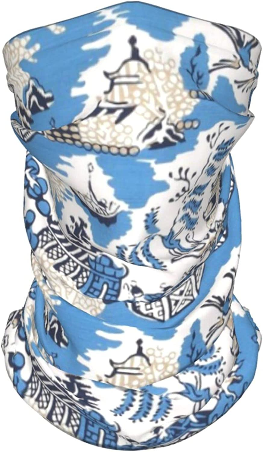 Blue Mountains Neck Gaiter Multipurpose Headwear Ice Silk Mask Scarf Summer Cool Breathable Outdoor Sport 4 Pcs