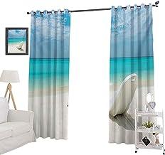 YUAZHOQI - Cortinas opacas para dormitorio, playa maldiana, playa, playa, playa, playa, playa, día soleado, viajes, destin...