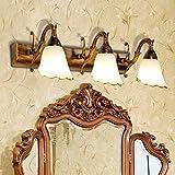 GZ Spiegel-Licht-europäische Spiegel-Frontlichter führten Badezimmer-Lichter Badezimmer-amerikanisches Spiegel-Kabinett beleuchtet Kommode-Make-upbeleuchtungs-Lampe