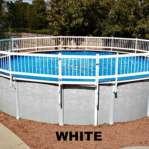 Doheny's Protect-A-Pool Fence for Above Ground Pools | Provides A New Level of Security to Above Ground Pool Safety! | Fits Most Pools - Regardless of Shape (Base Kit A - 8 Sections, White)