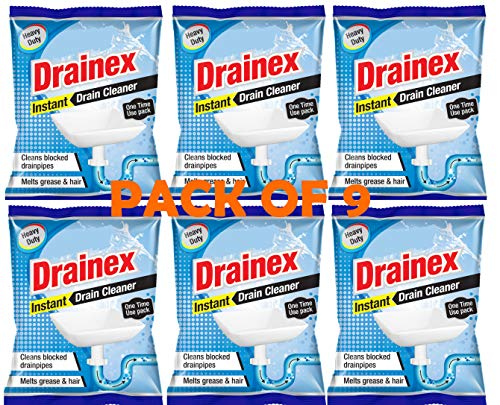 MMR Making Marvelous Drainex Drain-Insta Drain Cleaner powder Clear Clogged Sinks & Pipes 50 gram pack of 9 SN (9)