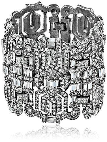 Ben-Amun Vintage Jewelry Deco Legendary Collection, Silver Plated Deco Bracelet