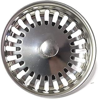 PROKIRA Universal Siebkörbchen Siebkorb 3,5 Zoll Durchmesser80mm, für Spülen mit Handbedienung/Edelstahl