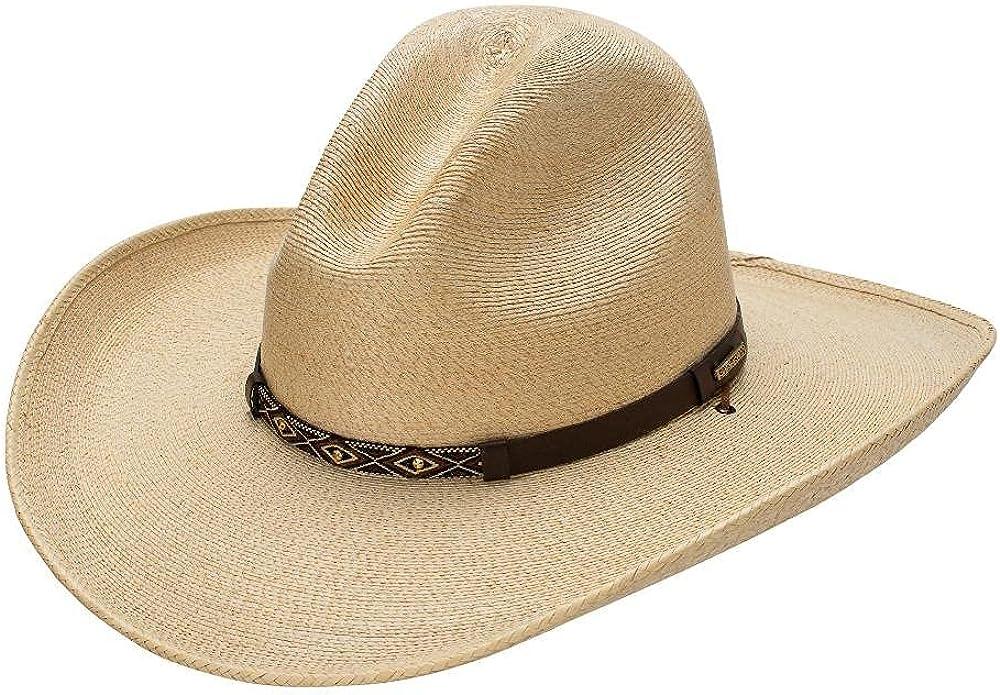 Stetson Calhoun Men's unisex Palm Leaf Gus Regular discount Straw Hat Crown Cowboy