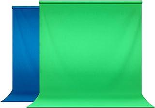 Julius Studio 6 x 9 ft. Photo Studio Chromakey Background Muslin Backdrop Bundle Kit, Blue, Green, Premium Quality Fabric ...