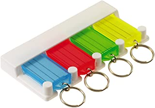Lucky Line Key Tag Rack with 4 Tags, Multi Color (60540)