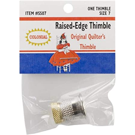 Medium Small John James Thimble Nickel Plated Steel Crimp Top Sizes Large
