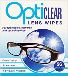 Opticlear Lens Wipes (Pack of 6, Total 156 Wipes