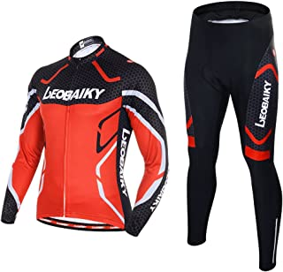 Mens Cycling Clothing Set 0utdoor Sport Bicycle Bike Suit Jerseys Pants