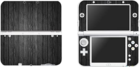 FOTTCZ Vinyl Cover Decals Skin Sticker for New Nintendo 3DS XL/LL - Black Wood Grain