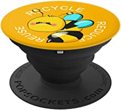 Bee Phone Art - Reuse - Reduce - Recyle PopSockets Grip and Stand for Phones and Tablets