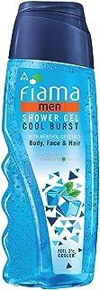 Fiama Men Cool Burst Shower Gel, body wash with skin conditioners & menthol crystal for cool & moisturized skin, 250ml bottle