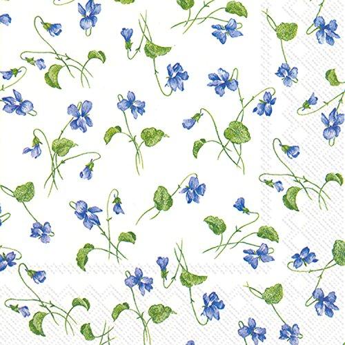 Viola rivinus IHR Blanc de Luxe traditionnel Papier Déjeuner Serviettes de table Lot de 20