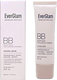 EverGlam K-Beauty Skin Perfector Korean BB Cream, Light Medium - Flawless, Natural Glow in Seconds | All-In-One: Amazing Coverage, Long-Lasting Moisturizer, Nourishing Skincare & SPF 30 | For All Skin Types