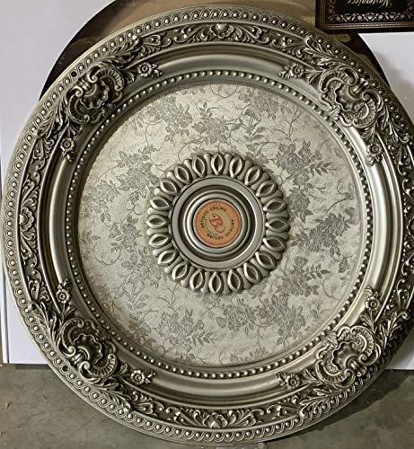 Antique Silver Round Ceiling Medallion