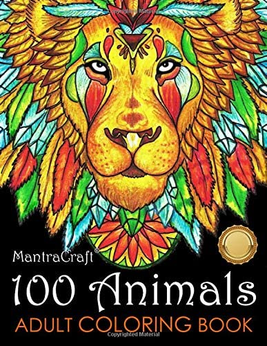 100 Animals Adult Coloring Book Stress Relieving Designs to Color Relax and Unwind Coloring product image