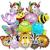Balloono 15x Tiere Folienballon Set für Kindergeburtstag