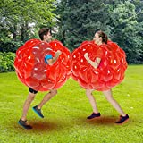 SUNSHINEMALL Bumper Balls for Adults 2 Pack, Inflatable Body Bubble Ball Sumo Bumper Bopper Toys, Heavy Duty Durable PVC Vinyl Kids Adults Physical Outdoor Active Play (Red 90cm)