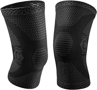 CAMBIVO 2 Pack Knee Brace, Knee Compression Sleeve Support for Men and Women, Running,..
