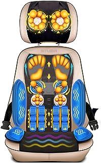 Ali- CojíN De Asiento con Masaje Shiatsu Calefactado, Amasamiento Profundo Shiatsu 3D, Prensado, Balanceo Y VibracióN - Masaje Espalda Completa Espalda Superior Espalda Inferior