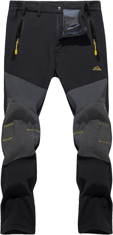 TACVASEN Men's Fleece Lined Pants Ski Daily bargain sale Hiking Snowboard Max 74% OFF Mountain