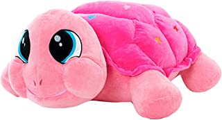 Cuddly Big Soft Toys Tortoise Doll, Plush Sea Turtle Stuffed Animals Toy Cushion Doll, Sea Turtle Plushie Toys Best Birthday Christmas Great Gifts for The Children Kids Baby Toys (Hot Pink, 18