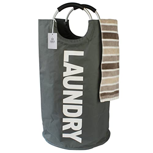 Travel... Heavy Duty Collapsible-Pop Up Laundry Bag with Alloy Handles//Durable