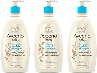 لوسیون مرطوب کننده روزانه Aveeno کودک برای پوست لطیف با جو دوسر کلوئیدی طبیعی - (بشویید