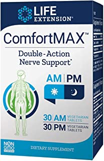 Life Extension ComfortMAX, 30 AM Vegetarian Tablets, 30 PM Vegetarian Tablets