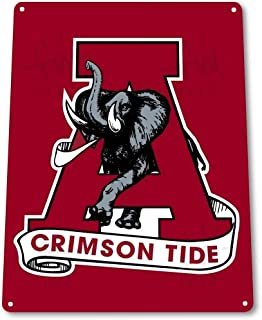 NGHF Alabama Crimson Tide Decor Art Mascot Sports Store Bar Metal Sign 8 X 12 Inch