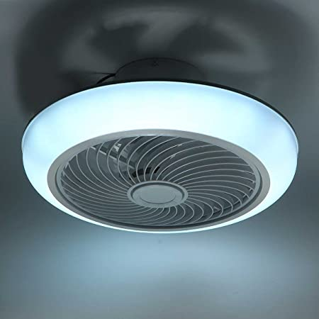 LANMOU Moderne Ventilateur de Plafond avec Lumière 36W / Ø45cm Ventilateur de Plafond Silencieux avec Lampe et Télécommande/APP Plafonnier LED Dimmable pour Chambre Salon Salle à Manger
