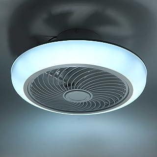 LANMOU Moderne Ventilateur de Plafond avec Lumière 36W / Ø45cm Ventilateur de Plafond Silencieux avec Lampe et Télécommand...
